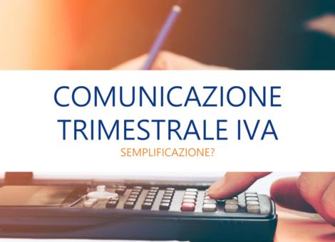 Comunicazione trimestrale Iva