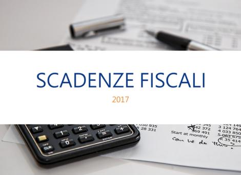 Scadenze fiscali 2017